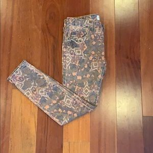 Cute patterned Free People jeans